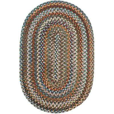 Annie Greengrass 7 ft. x 9 ft. Oval Indoor Braided Area Rug
