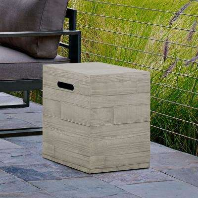 16.5 in. Board Form Propane Tank Cover in Concrete Gray