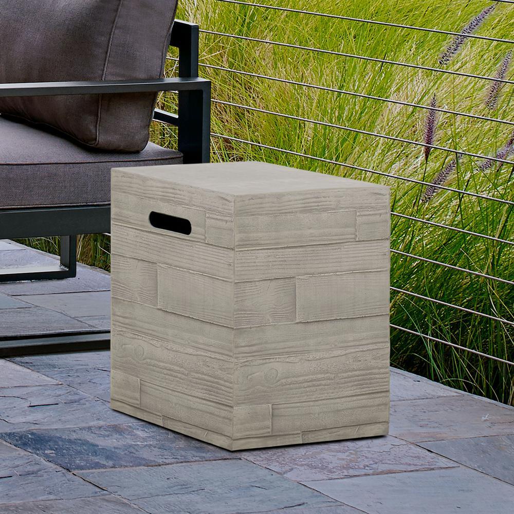 16.5 in. Board Form Propane Tank Cover in Concrete Gray