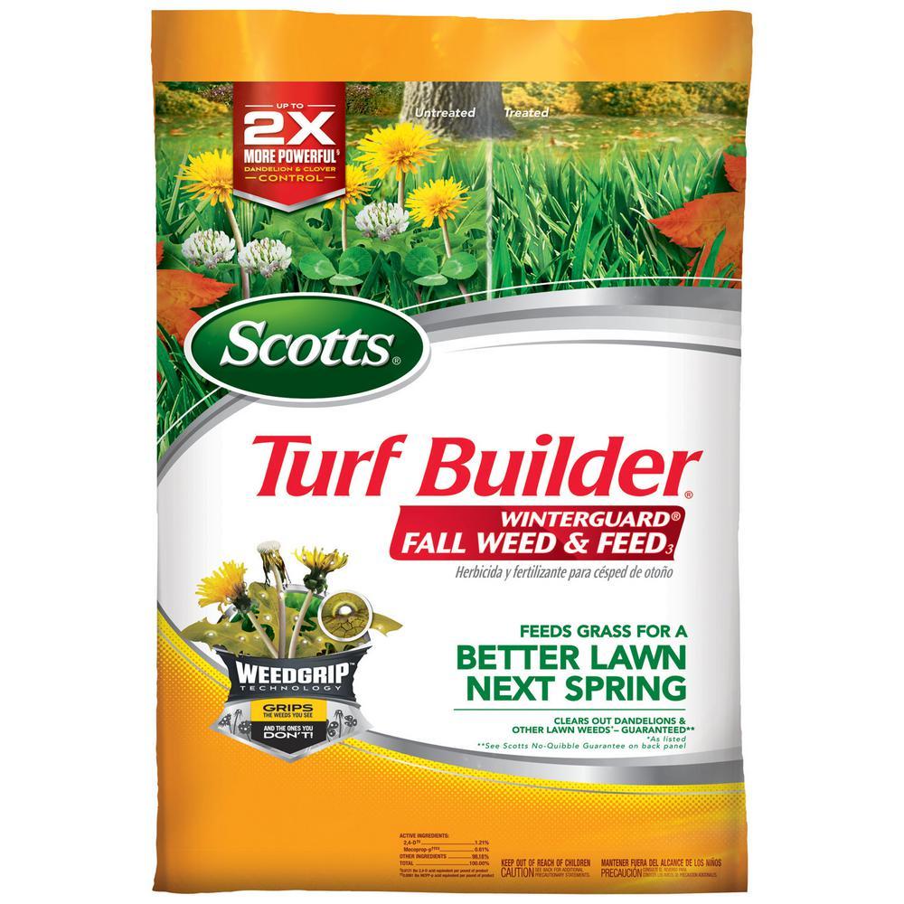 Scotts Turf Builder Winterguard 43 lbs. 15,000 sq. ft. Fall Lawn Fertilizer Plus Weed Control