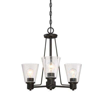 Printers Row 3-Light Oil Rubbed Bronze Interior Incandescent Chandelier