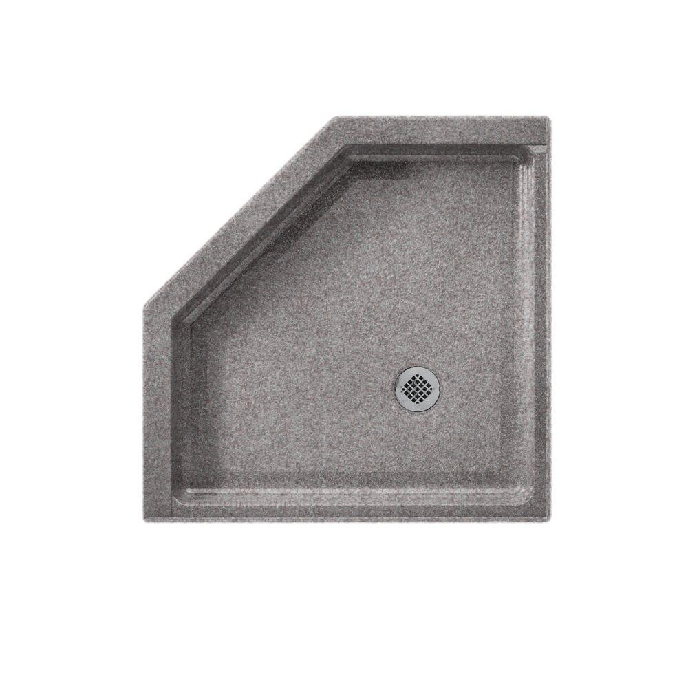 Swanstone Neo Angle 38 in. x 38 in. Single Threshold Shower Floor in Purple Sage-DISCONTINUED