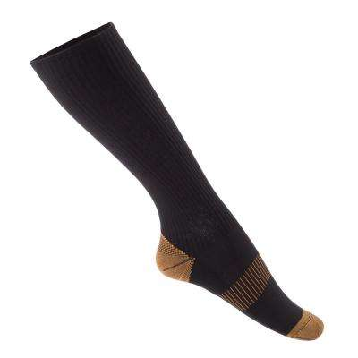 Large/X-Large Copper Compression Socks in Black