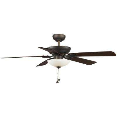 Connor 52 in. Integrated LED Oil-Rubbed Bronze Ceiling Fan with Light Kit