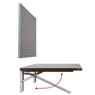 3 ft. x 20 in. Folding Stainless Steel Workbench with Peg Board