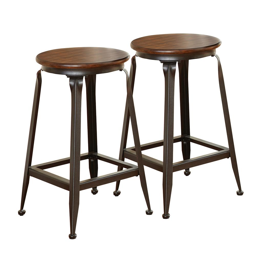 Steve Silver Adele Brown 24 In Counter Stool Set Of 2