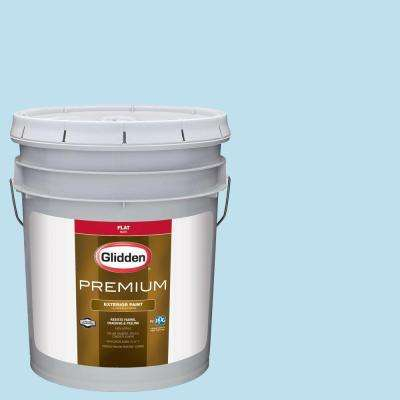 5-gal. #HDGB44 Clear Blue Sky Flat Latex Exterior Paint
