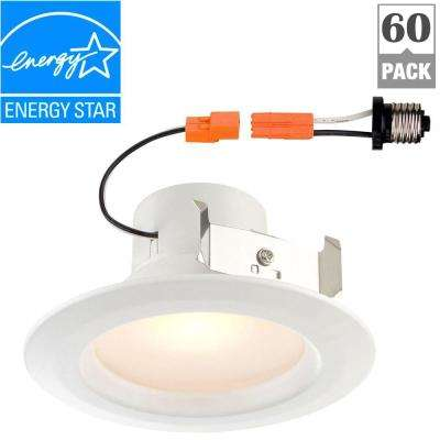 Standard Retrofit 4 in. White Recessed Trim Bright LED Ceiling Light with 92 CRI, 4000K (64-Pack)