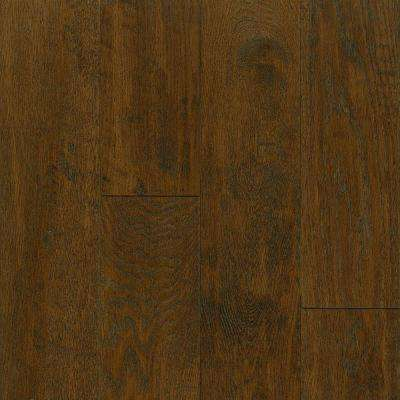 Take Home Sample - American Vintage Mocha Oak Engineered Scraped Hardwood Flooring - 5 in. x 7 in.