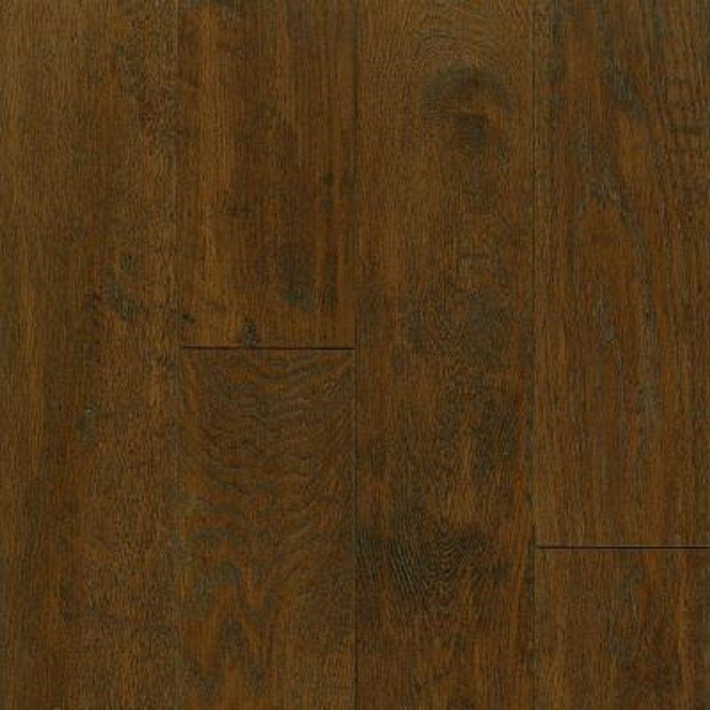 Take Home Sample - American Vintage Mocha Oak Engineered Scraped Hardwood Flooring - 5 in. x 7 in.