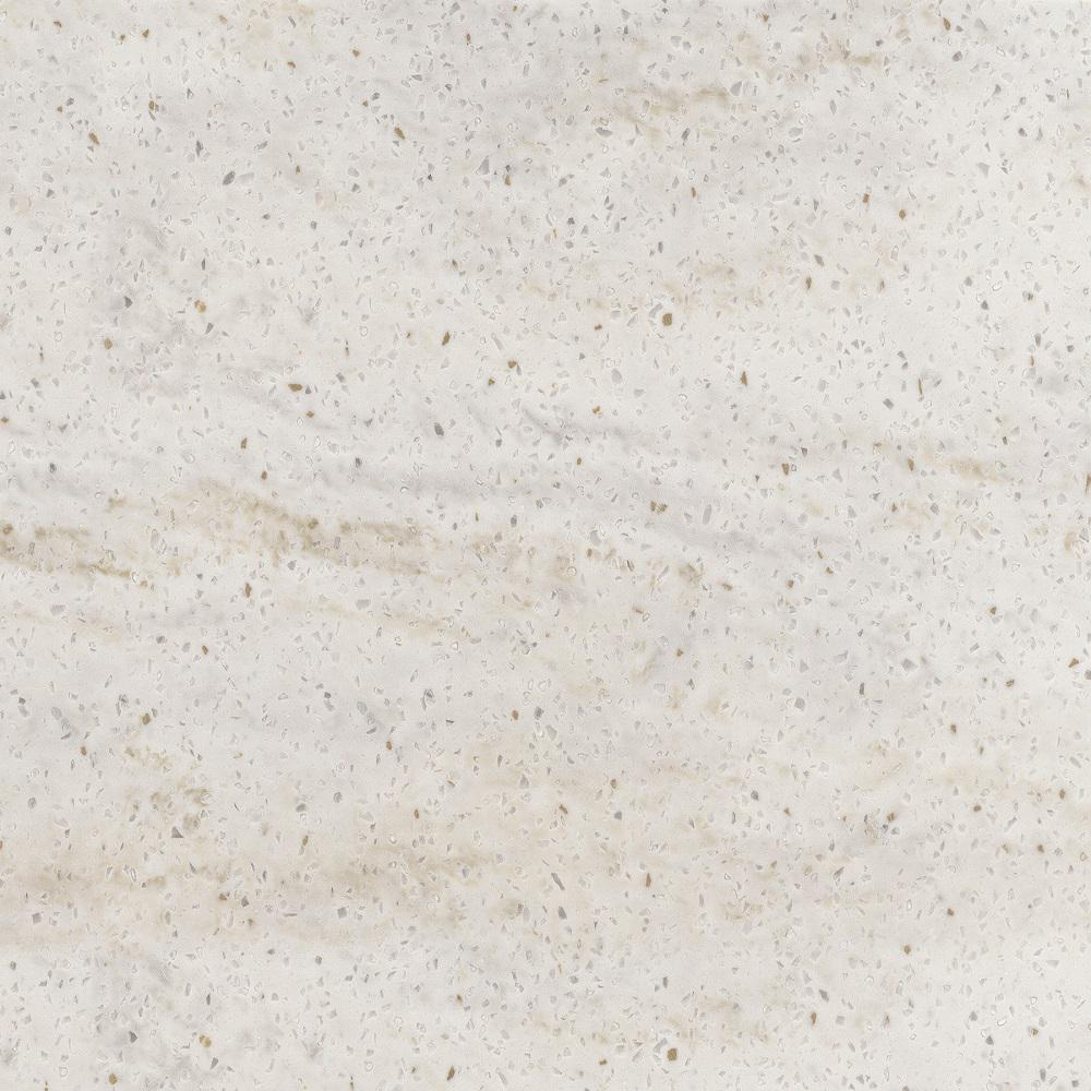 Corian 2 in  x 2 in  Solid Surface Countertop Sample in Sea Scroll