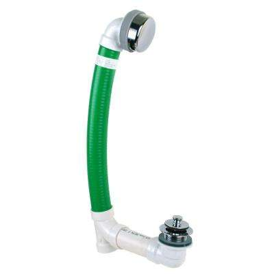 Innovator Flex924 Flexible Bath Waste with Push Pull Bathtub Stopper and Innovator Overflow in Chrome Plated