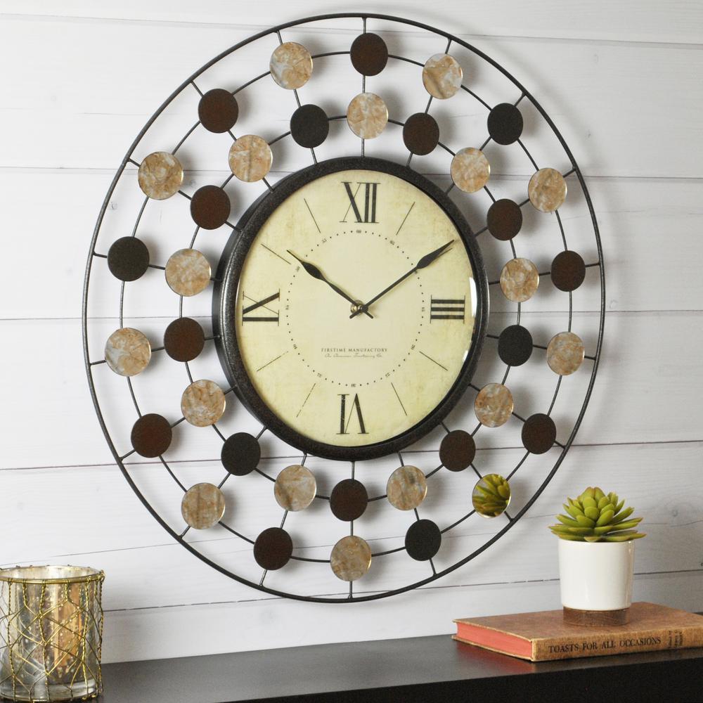 20 in. Round Shasta Wire Wall Clock