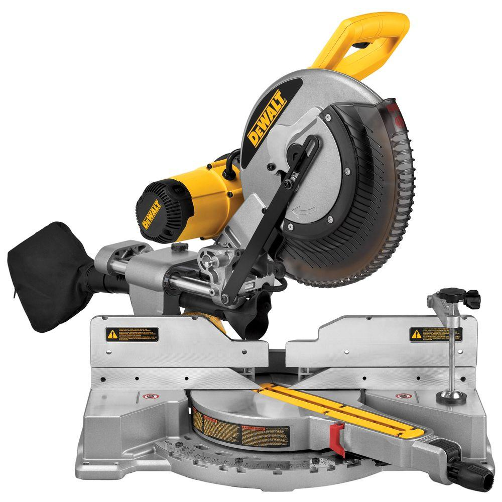 dewalt 15 amp 12 in dual bevel sliding compound miter saw dws709