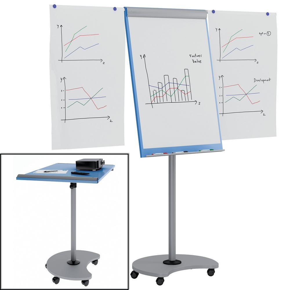 Rocada Transformer Multi-Functional Flipchart with Blue Dry Erase board