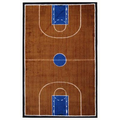 Supreme Basketball Court Multi Colored 3 ft. x 5 ft. Area Rug
