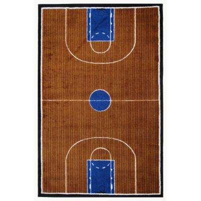 Supreme Basketball Court Multi Colored 39 in. x 58 in. Area Rug