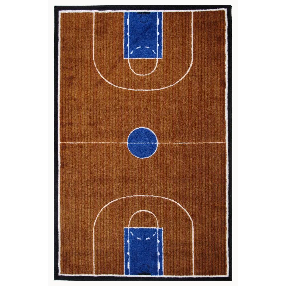 la rug supreme basketball court multi colored 5 ft. 3 in. x 7 ft