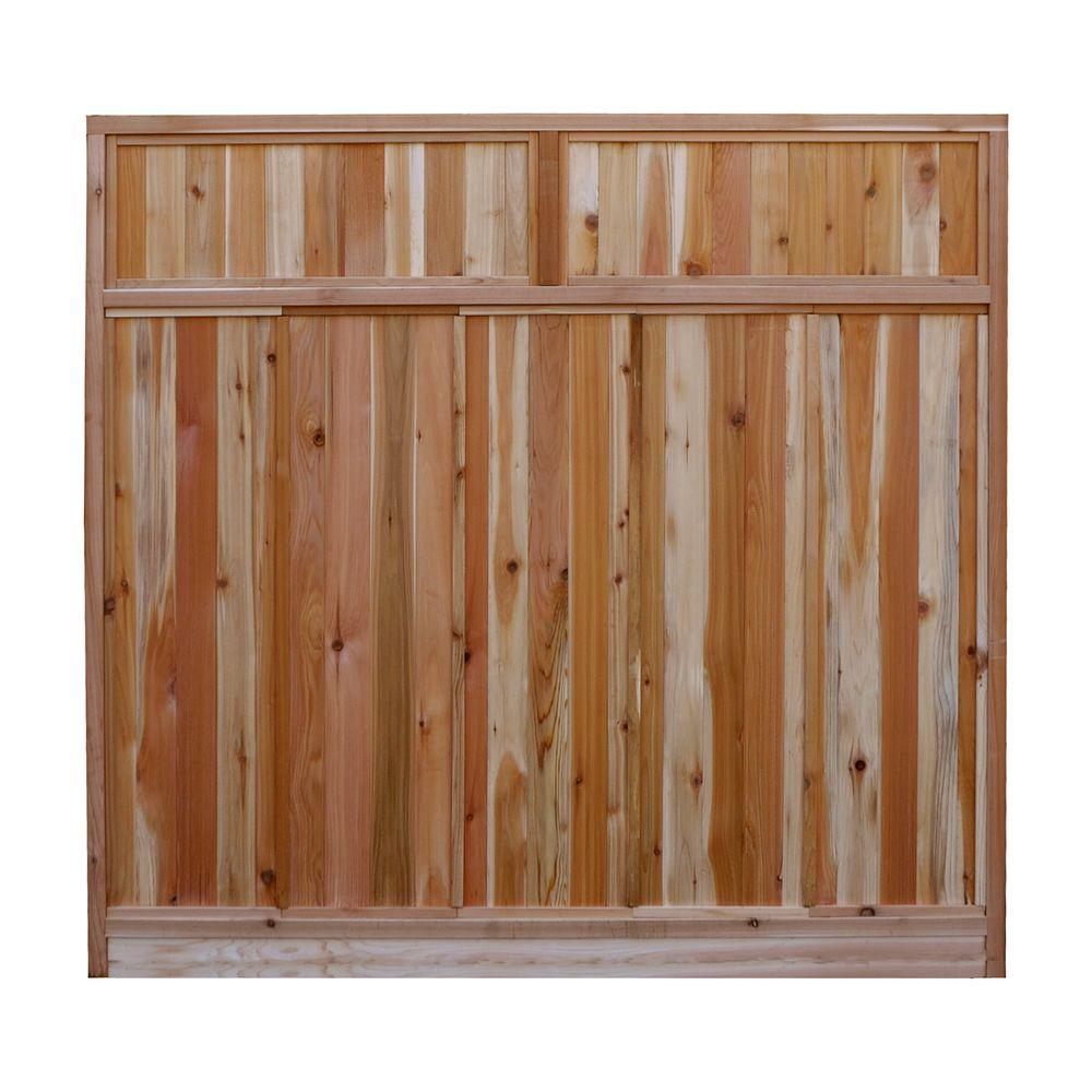 W Western Red Cedar Solid Lattice Top Fence