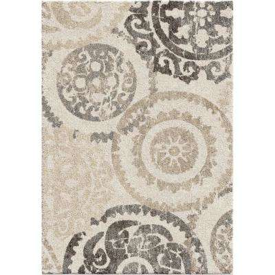 Stencil Ivory 9 ft. x 13 ft. Area Rug