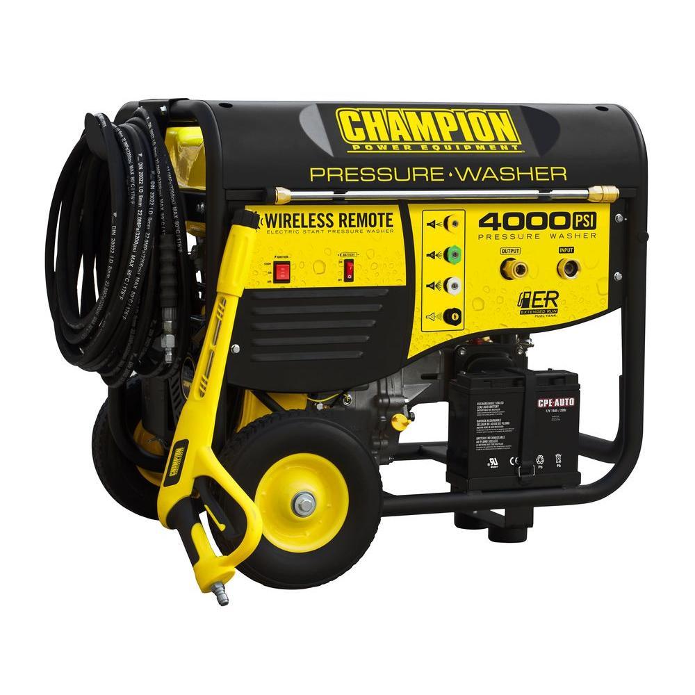Champion 4000 psi Remote Start Gas Pressure Washer-DISCONTINUED