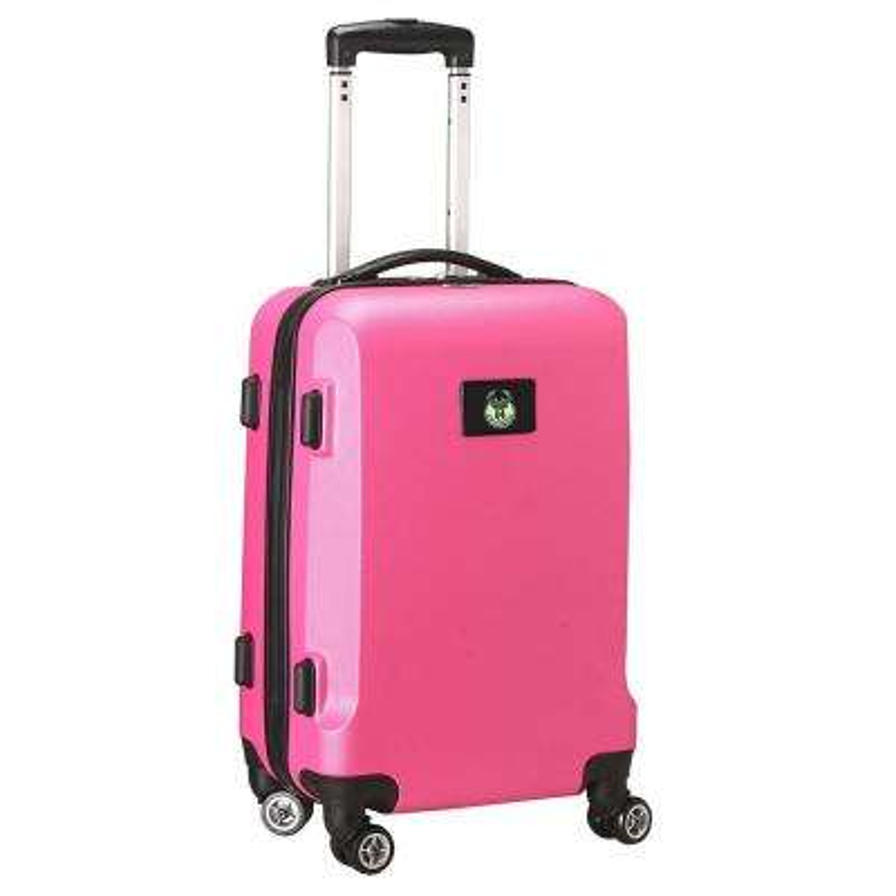 NBA Milwaukee Bucks Pink 21 in. Carry-On Hardcase Spinner Suitcase
