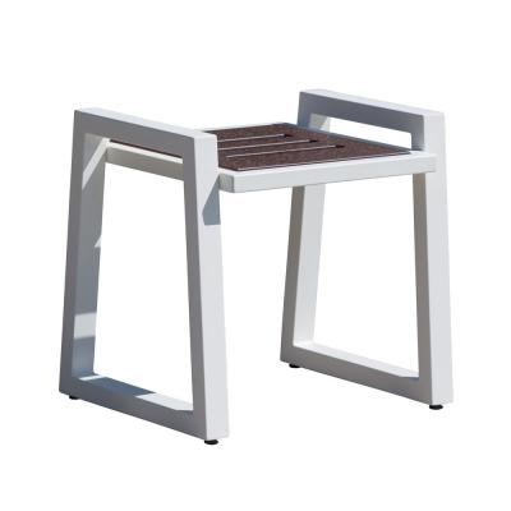 Vero White Aluminum Outdoor Side Table