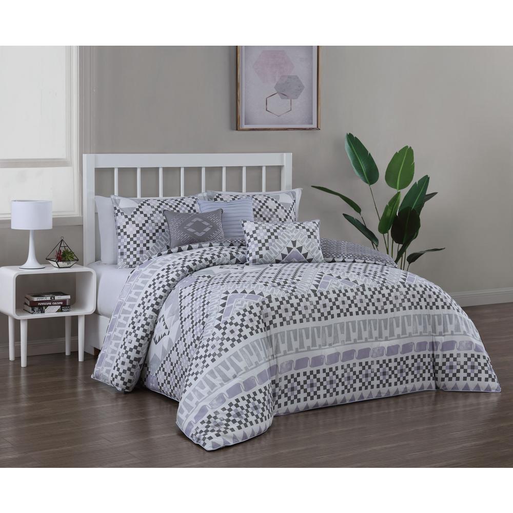 Meridia 6-Piece Neutral Queen Comforter Set