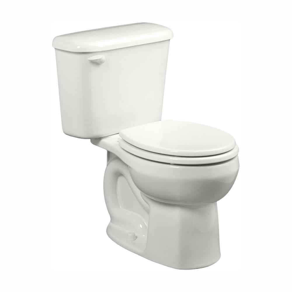 American Standard Colony 10 in. Rough-In 2-piece 1.28 GPF Single Flush Round Toilet in White, Seat Not Included