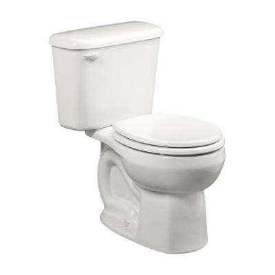 Colony 10 in. Rough-In 2-piece 1.28 GPF Single Flush Round Toilet in White, Seat Not Included