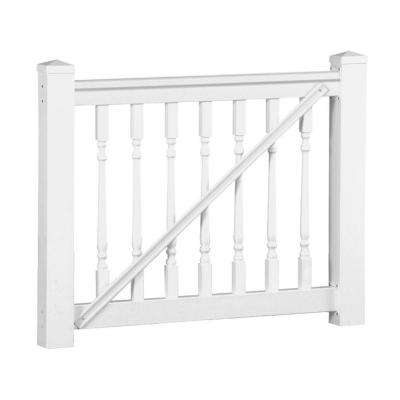 Delray 3.5 ft. H x 5 ft. W White Vinyl Railing Gate Kit with Colonial Spindles