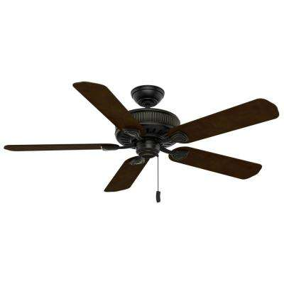 Ainsworth 54 in. Indoor Basque Black Ceiling Fan