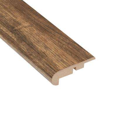 Los Feliz Walnut 7/16 in. Thick x 2-1/4 in. Wide x 94 in. Length Laminate Stair Nose Molding