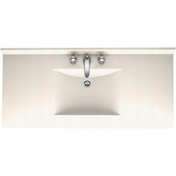 Contour 43 in. Solid Surface Vanity Top with Basin in Baby's Breath