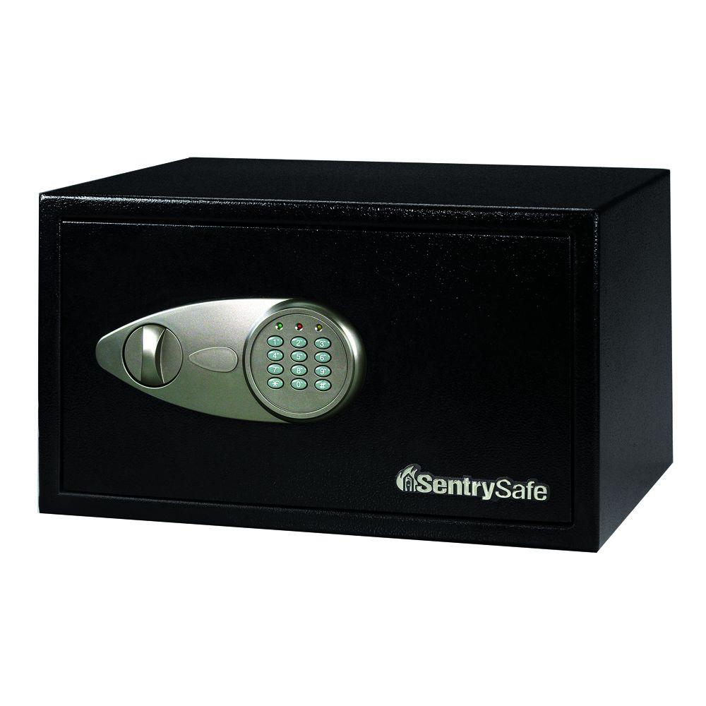 SentrySafe 1 cu. ft. Steel Security Safe with Electronic Lock, Black