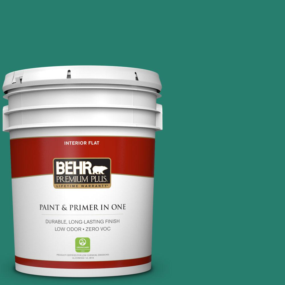 5 gal. #P440-7 Mermaid Sea Zero VOC Flat Interior Paint