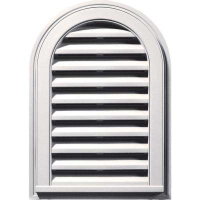 14 in. x 22 in. Round Top Gable Vent in Bright White