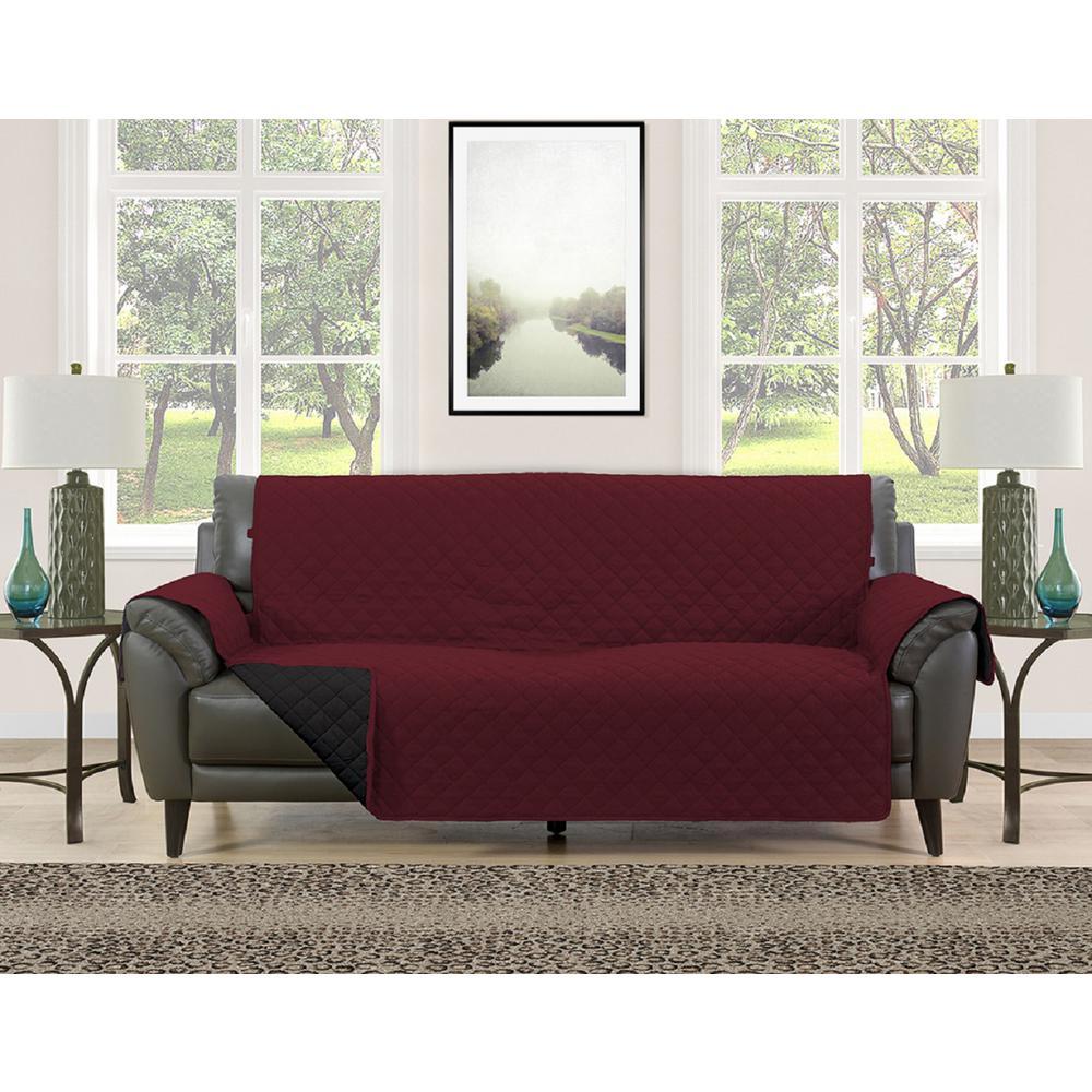 Barrett Black/Cream Microfiber Reversible Couch Protector