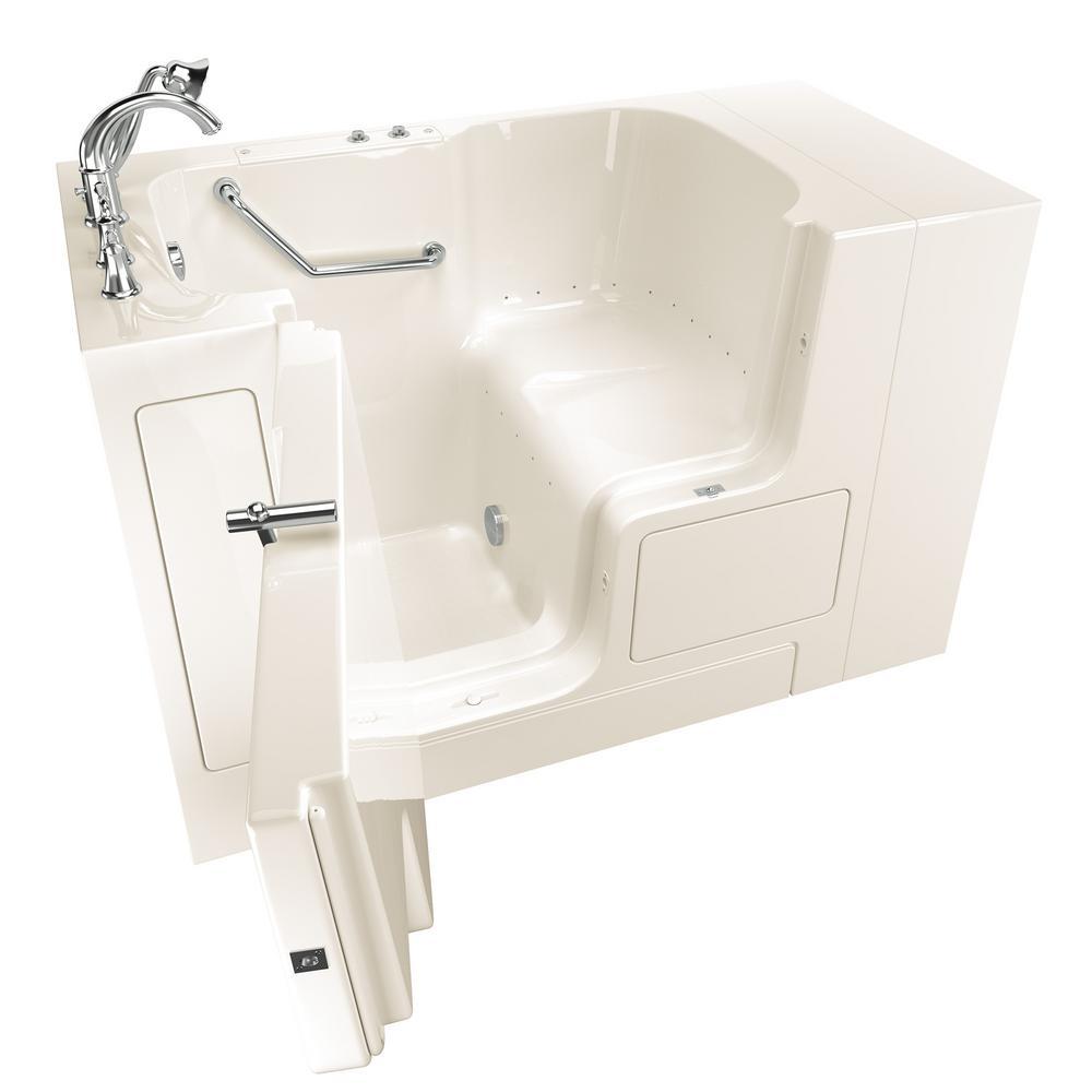 Gelcoat Value Series 4.3 ft. Walk-In Air Bathtub with Outward Opening Door in Linen