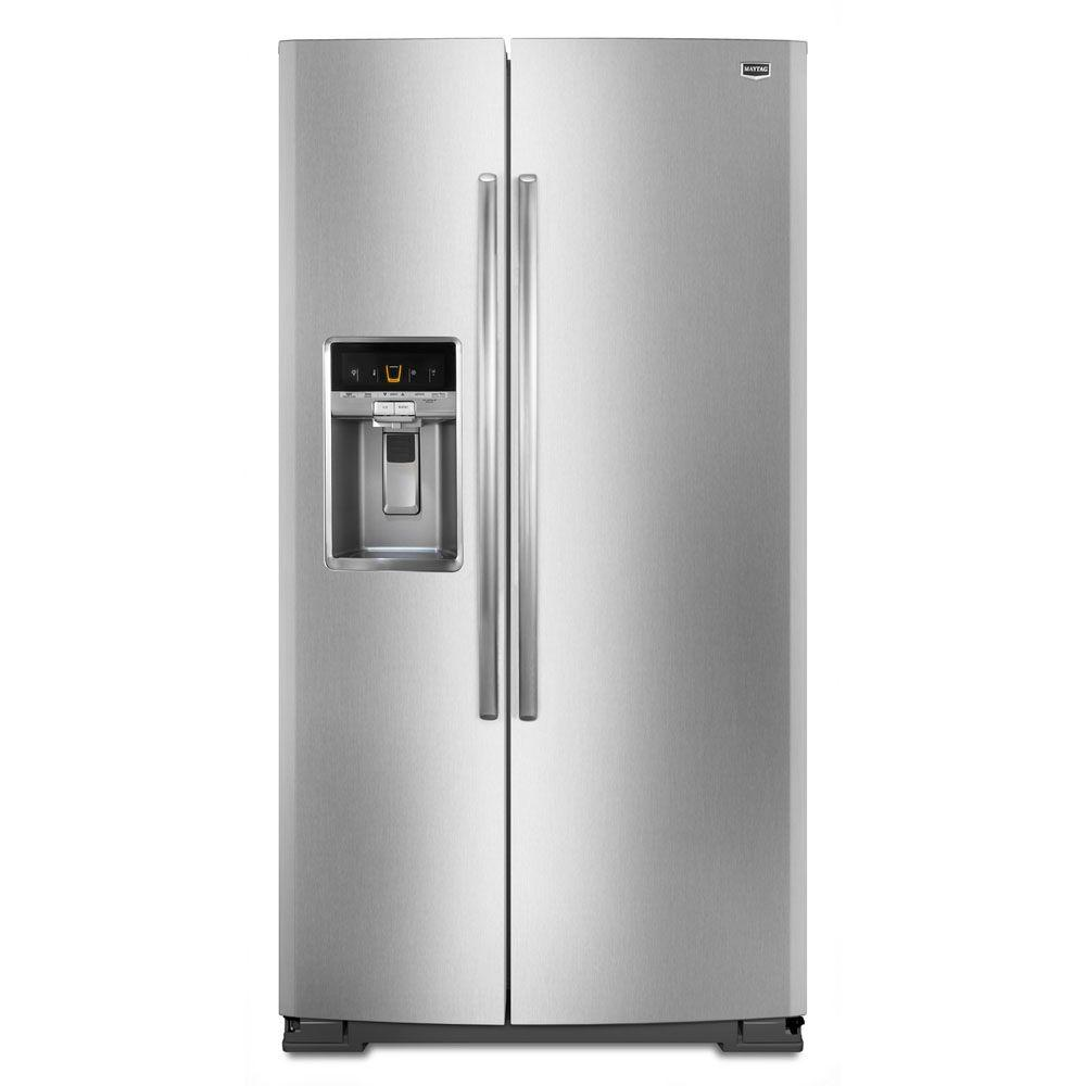 Maytag 26.5 cu. ft. Side by Side Refrigerator in Monochromatic Stainless Steel