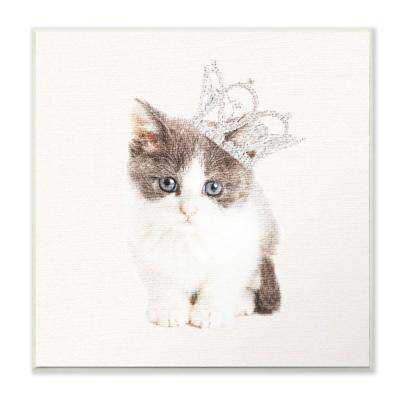 "12 in. x 12 in. ""Kitten Royalty"" by Daphne Polselli Printed Wood Wall Art"