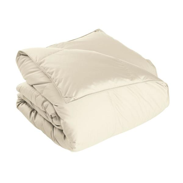 The Company Store White Bay Extra Warmth Ivory Queen Down Comforter