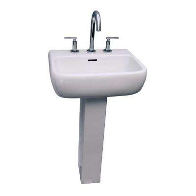 Metropolitan 600 Pedestal Combo Bathroom Sink in White