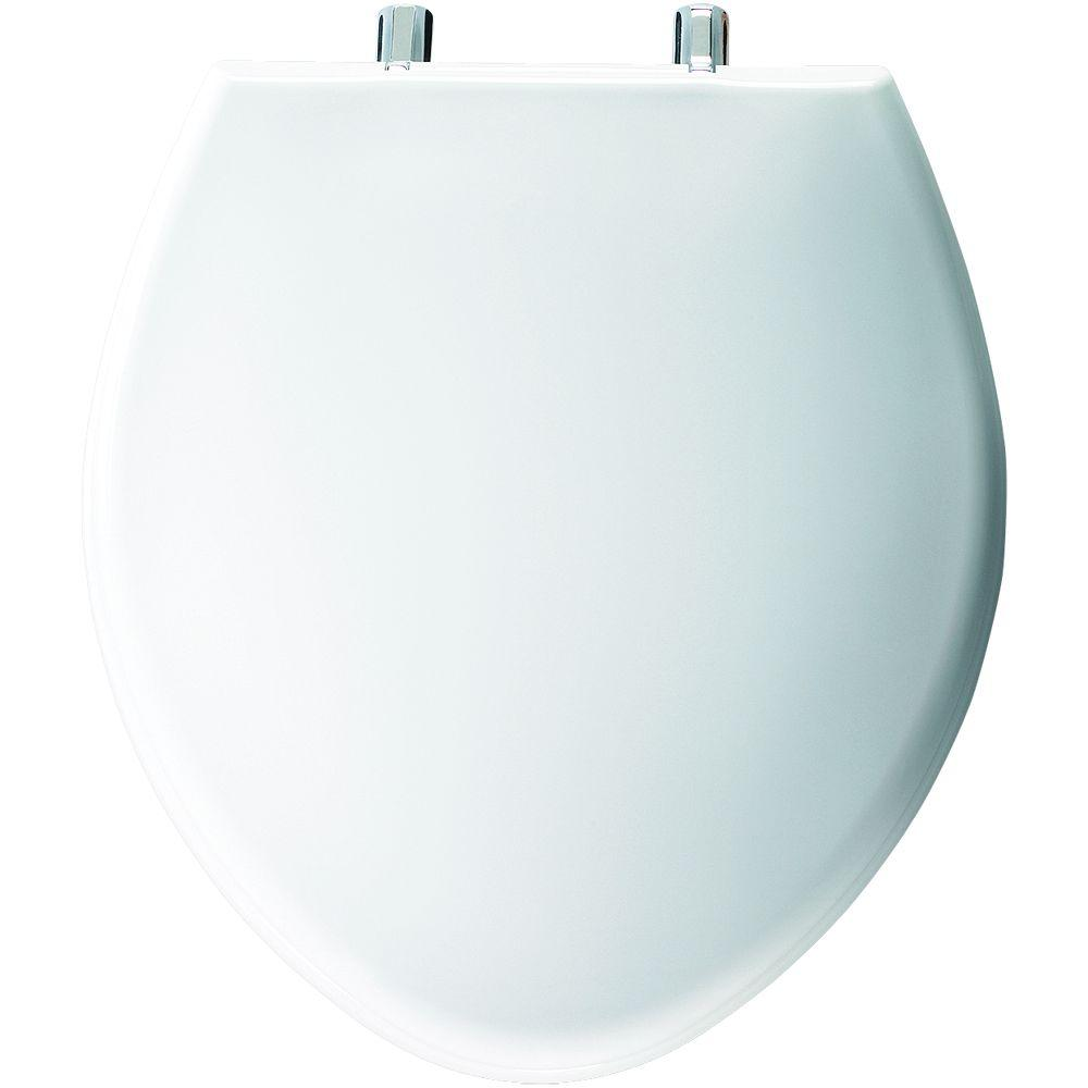 Church Paramont Elongated Closed Front Toilet Seat in White