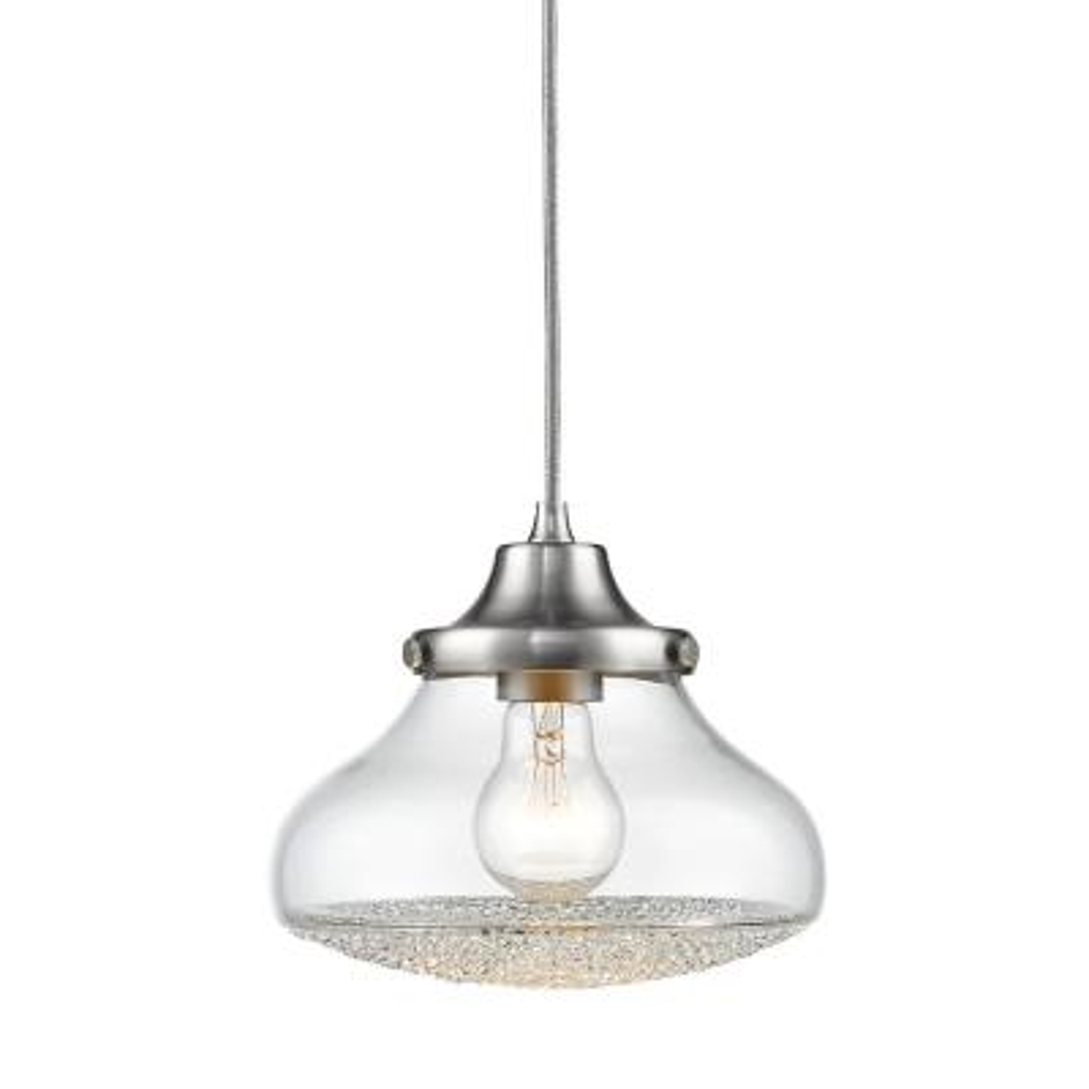 Asha 1-Light Pewter Pendant Light