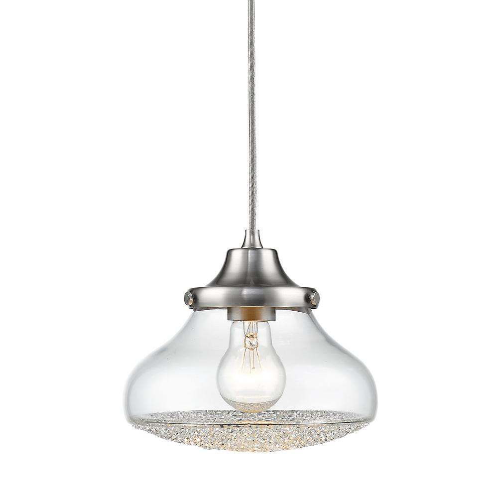 Asha 1-Light Pewter Pendant Light