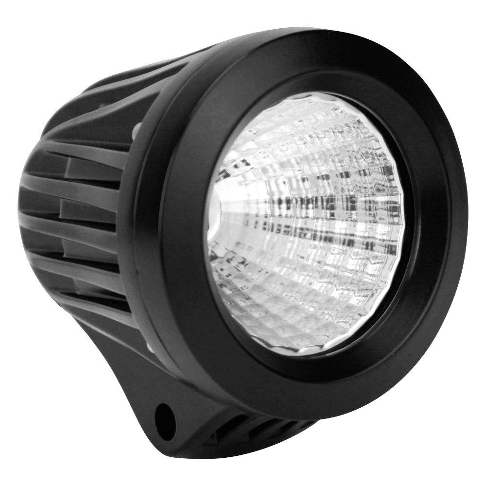 Striker LED Auxiliary Light 3.4 inch Round Flood w/25W Cree - Black