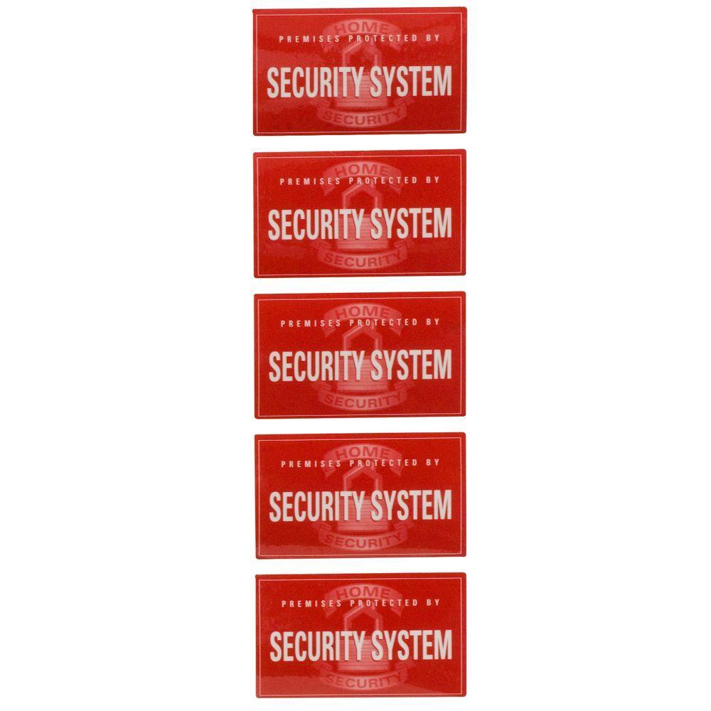 Security Window Decals (5-Pack)