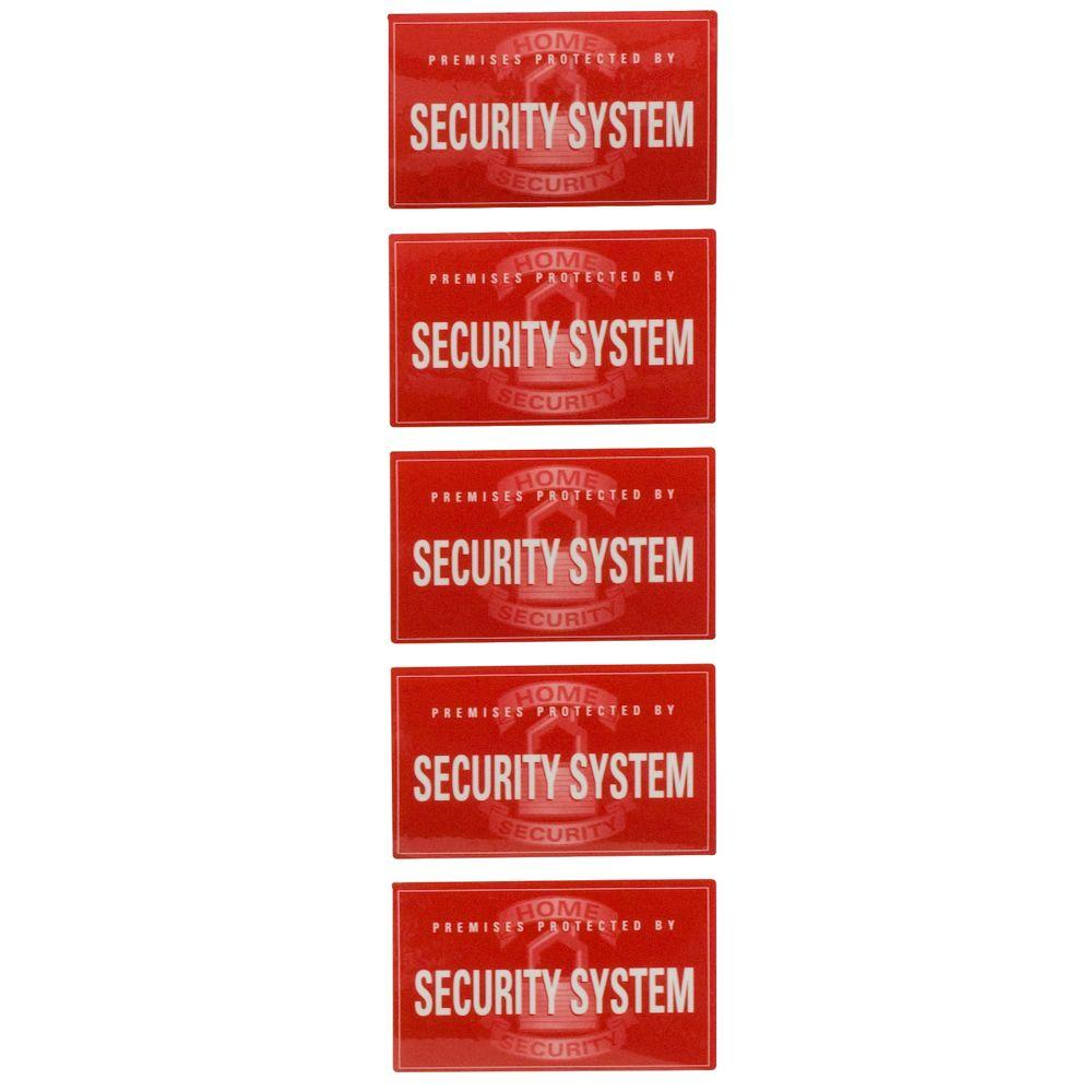 GE Security Window Decals Pack The Home Depot - Window decals for home security