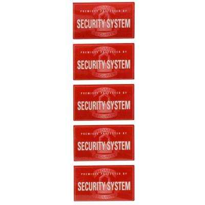 Security Window Decals (5-Pack)